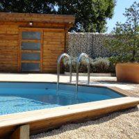 piscine chalet bois