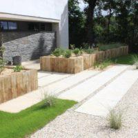 aménagement jardin dallage