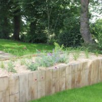 aménagement jardin jardinières bois
